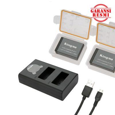 Jual KingMa Dual Battery Charger Kit LP-E17 (LCD Indicator) Murah. Cek Harga KingMa Dual Battery Charger Kit LP-E17 (LCD Indicator), Disini Sentra Digital Kamera Surabaya. - Sentradigital.com