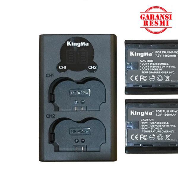 Jual KingMa Dual Battery Charger Kit NP-W235 (LCD Indicator) Murah. Cek Harga KingMa Dual Battery Charger Kit NP-W235 (LCD Indicator), Disini Sentra Digital Kamera Surabaya. - Sentradigital.com
