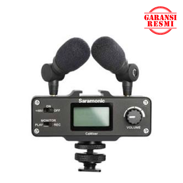 Jual Saramonic Mini Preamp Audio Mixer Kit CaMixer Murah. Cek Harga Saramonic Mini Preamp Audio Mixer Kit CaMixer, Disini Sentra Digital Kamera Surabaya. - Sentradigital.com