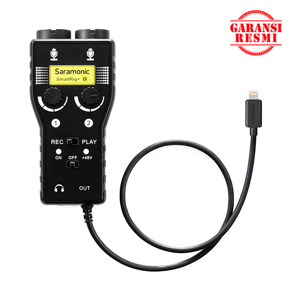Jual Saramonic Two-Channel Mic / Guitar Interface SmartRig+ Murah. Cek Harga Saramonic Two-Channel Mic / Guitar Interface SmartRig+, Disini Sentra Digital Kamera Surabaya. - Sentradigital.com