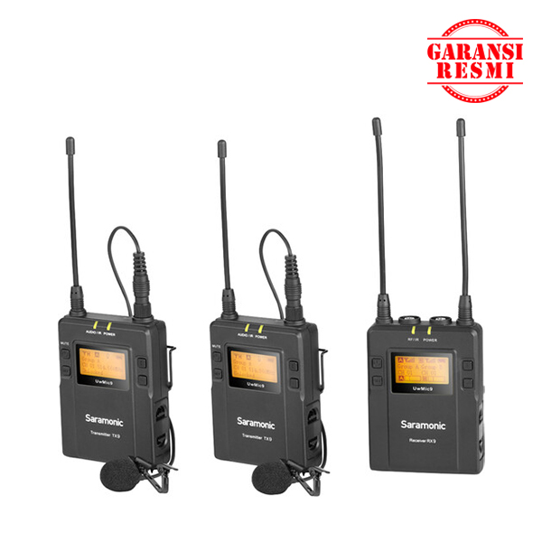 Jual Saramonic UHF Wireless Microphone UwMic9 Kit 2 (RX9+TX9-TX9) Black Murah. Cek Harga Saramonic UHF Wireless Microphone UwMic9 Kit 2 (RX9+TX9-TX9) Black, Disini Sentra Digital Kamera Surabaya. - Sentradigital.com