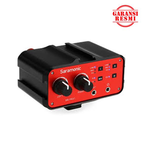 Jual Saramonic Two-Channel Audio Mixer with Phantom power SR-PAX1 Murah. Cek Harga Saramonic Two-Channel Audio Mixer with Phantom power SR-PAX1, Disini Sentra Digital Kamera Surabaya. - Sentradigital.com
