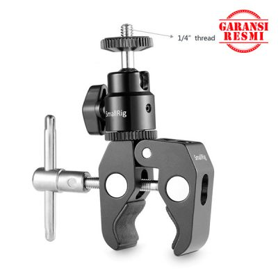 "Jual SmallRig Clamp Mount with ¼"" Screw Ball Head Mount – 1124 Murah. Cek Harga SmallRig Clamp Mount with ¼"" Screw Ball Head Mount – 1124, Disini Sentra Digital Kamera Surabaya. Sentradigital.com"